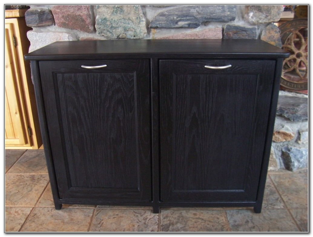 Kitchen Trash Can Storage Cabinet