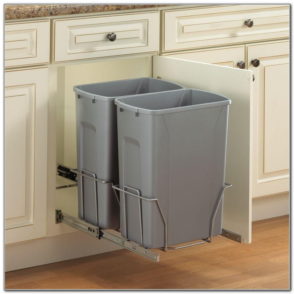 Kitchen Trash Can Under Cabinet