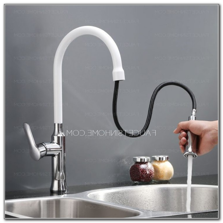 Moen White Kitchen Faucet With Sidespray