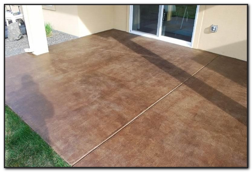 Patio Concrete Stain Colors