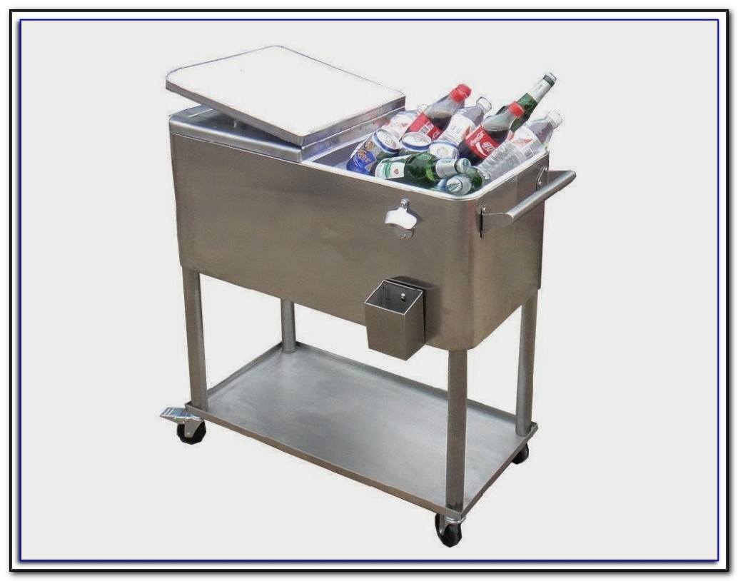 Patio Cooler Cart On Wheels