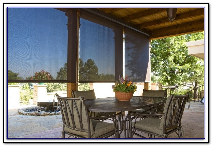 Printed Sun Screens For Patios