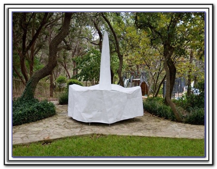 Rectangle Patio Table Cover With Umbrella Hole