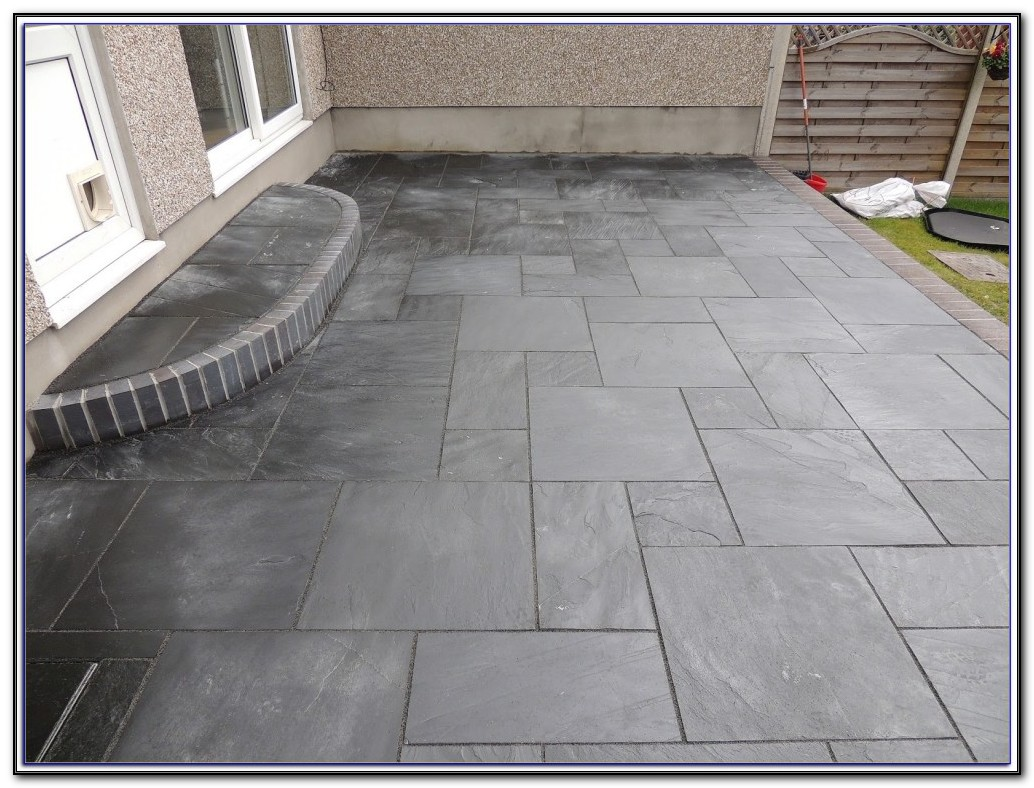 Slate Patio Paver Installation