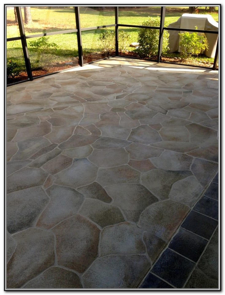 Stamped Cement Patio Designs