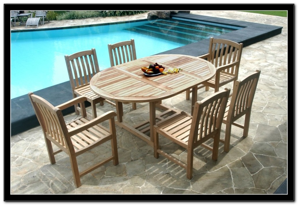 Teak Patio Furniture Set
