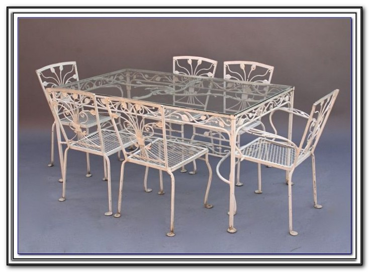 Used Wrought Iron Patio Table And Chairs