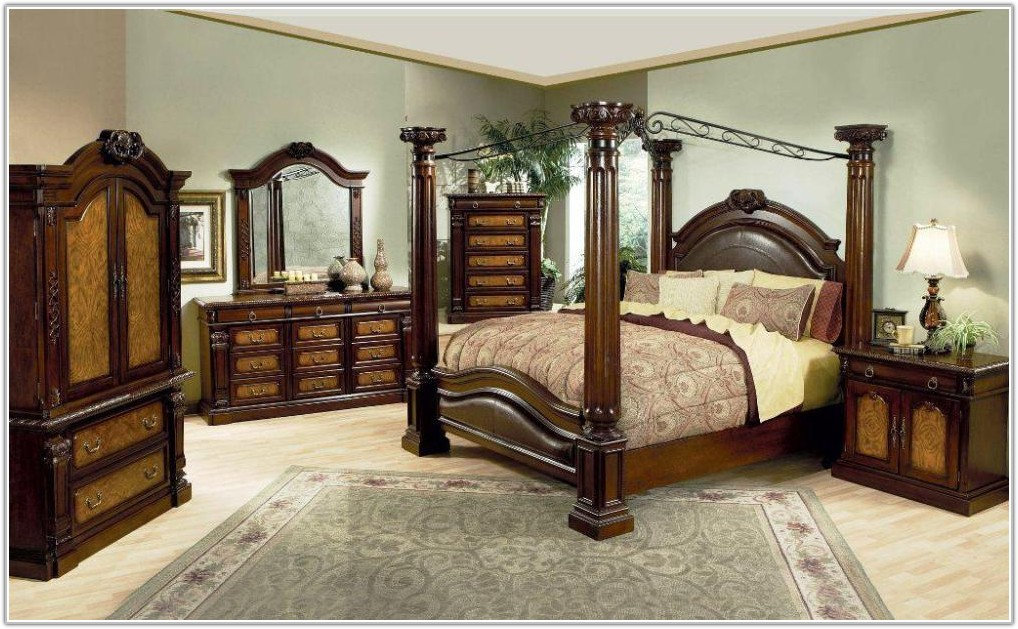 Cheap Queen Size Canopy Bedroom Sets