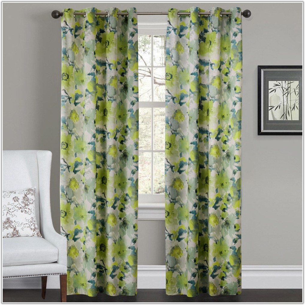 Grey And Yellow Bedroom Curtains