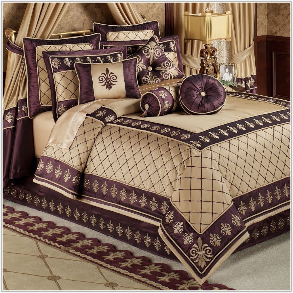 Purple And Gold Themed Bedrooms