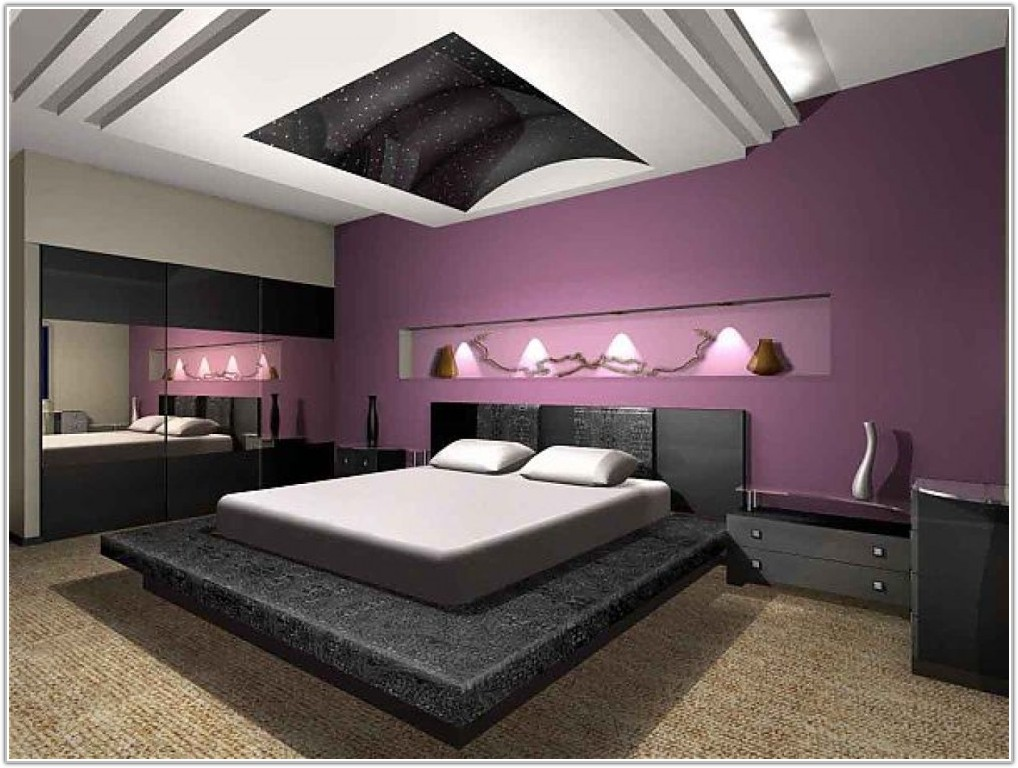 Purple And Gray Bedroom Pictures