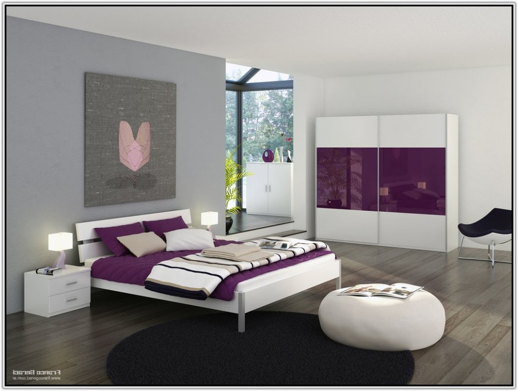 Purple And Grey Room Decor