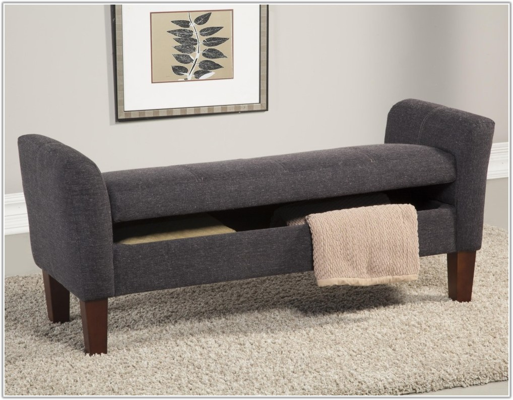 Upholstered Storage Benches For Bedroom