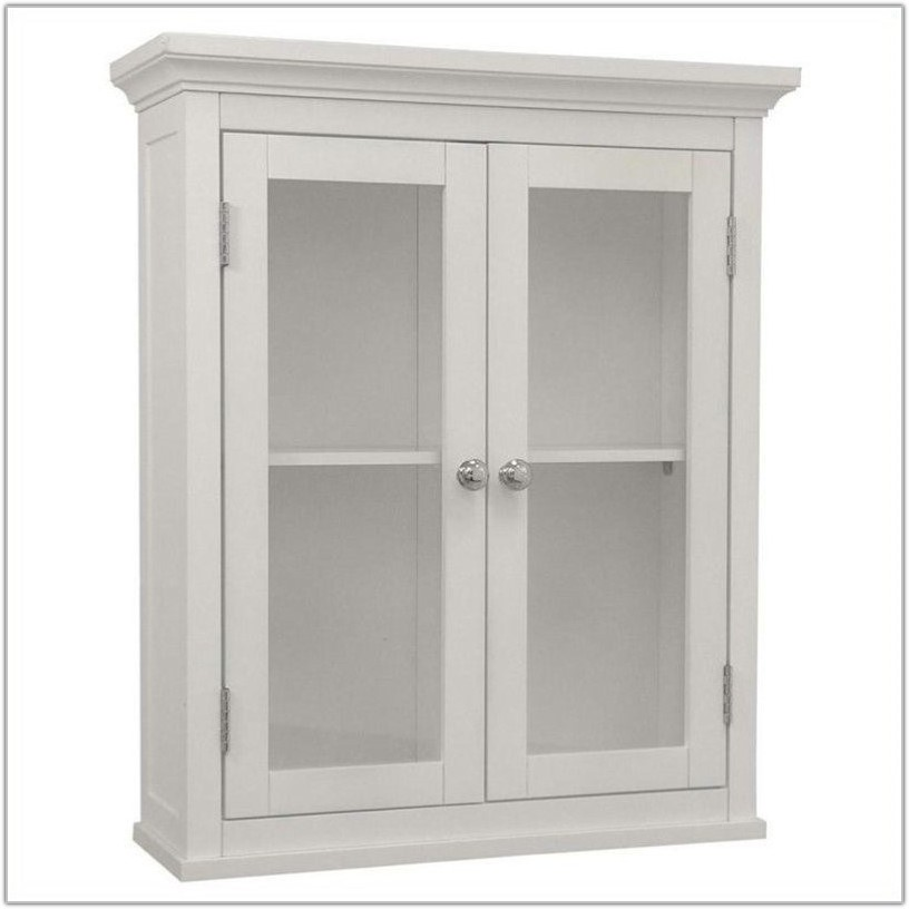 2 Door Wall Cabinet White