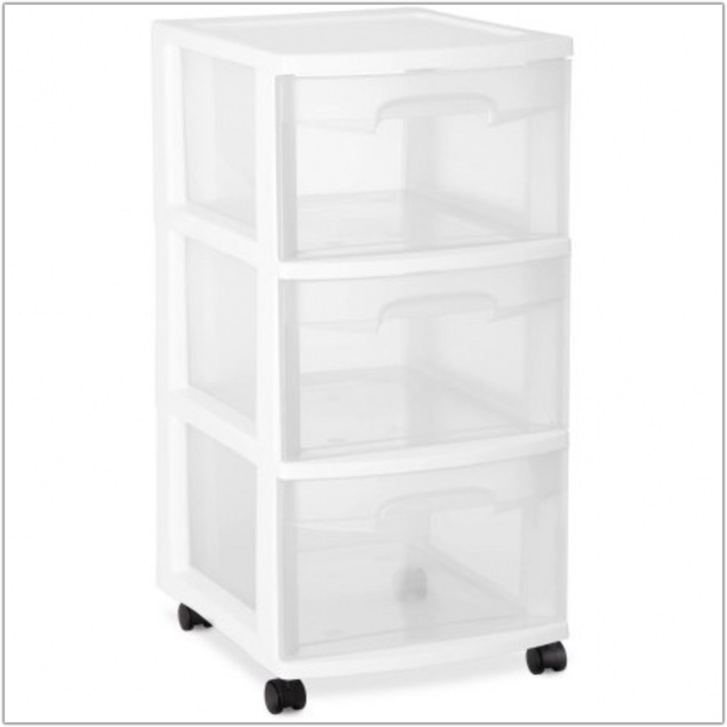 3 Drawer Plastic Storage Cabinet