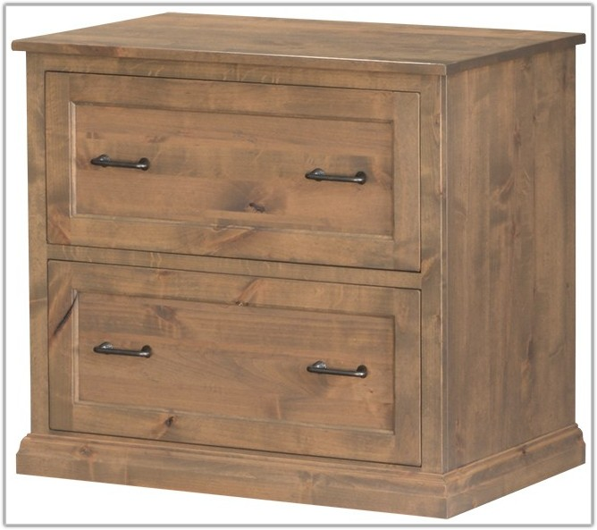 3 Drawer Solid Wood File Cabinet
