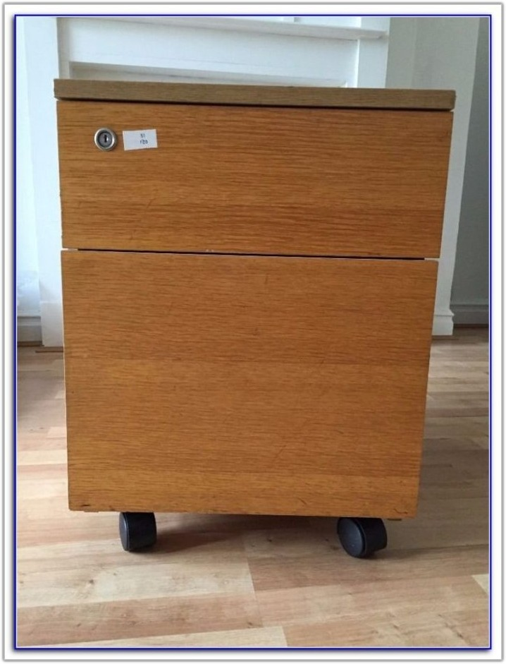 4 Drawer Filing Cabinet Wooden Lockable