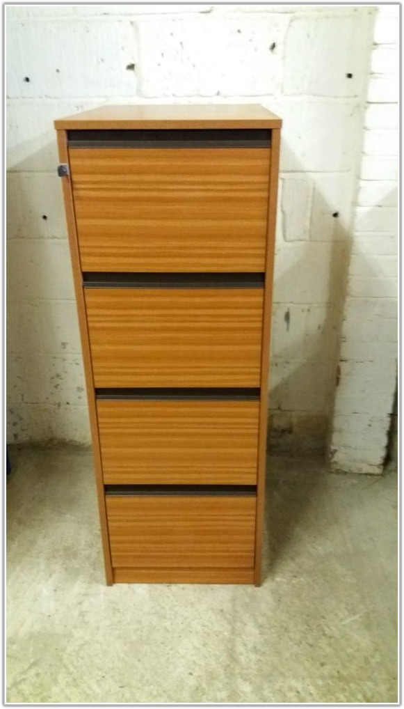 4 Drawer Wooden Filing Cabinet Uk