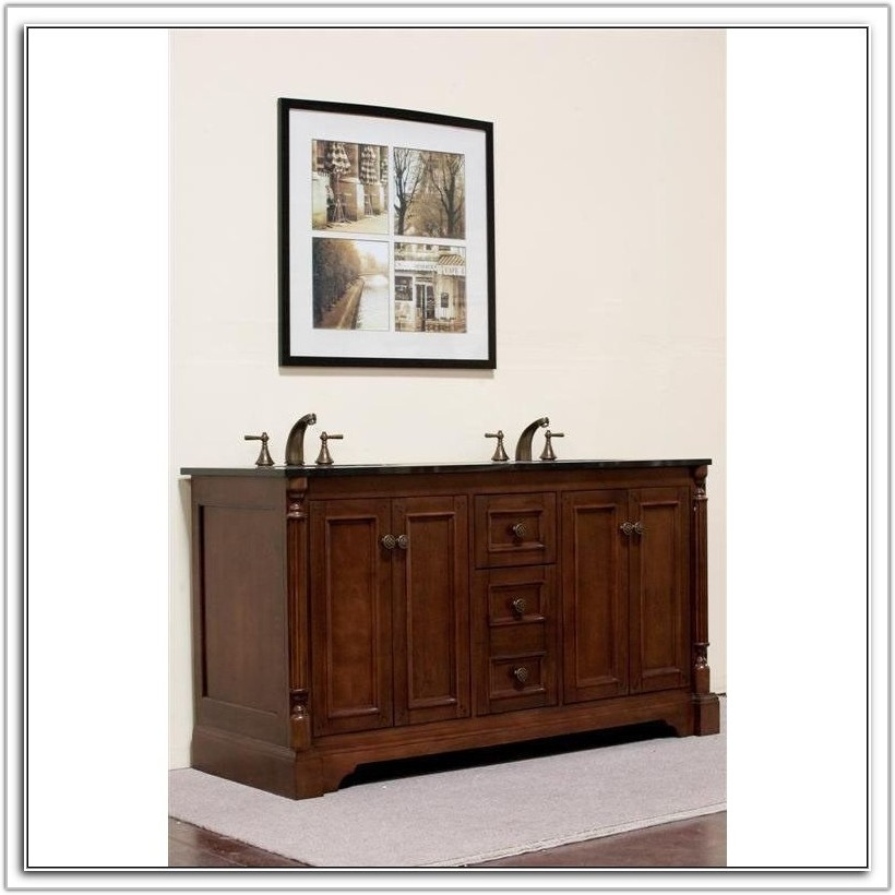 60 Double Vanity Cabinet Only