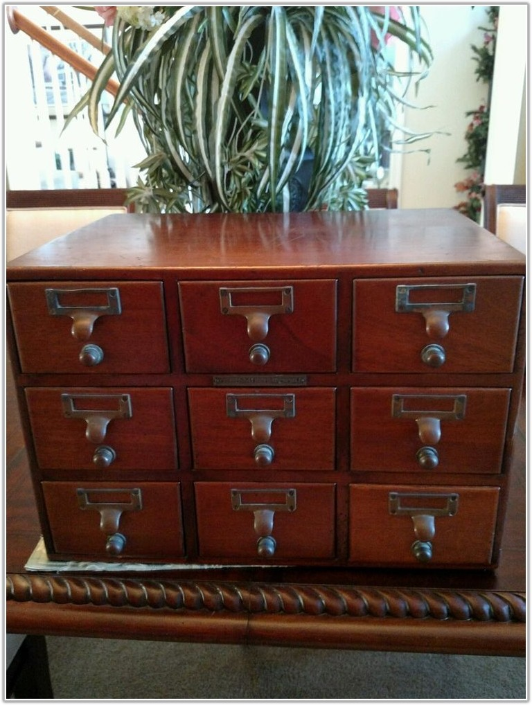 9 Drawer Wooden File Cabinet