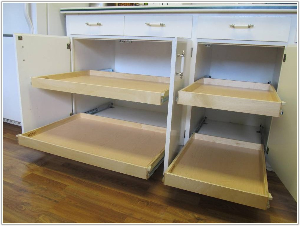 Adding Pull Out Drawers Kitchen Cabinets
