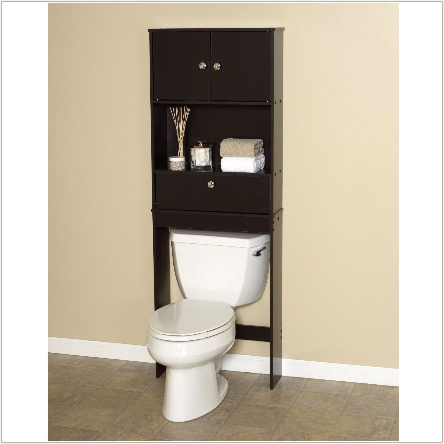Bathroom Space Saver Cabinet Espresso