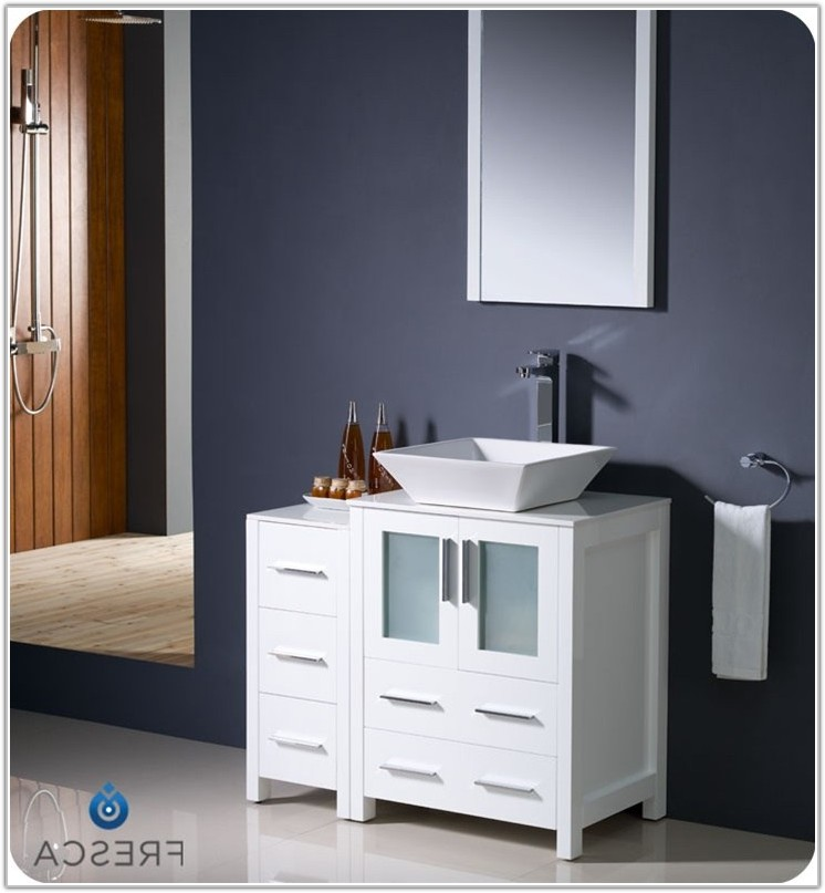 Bathroom Vanity With Cabinet Side