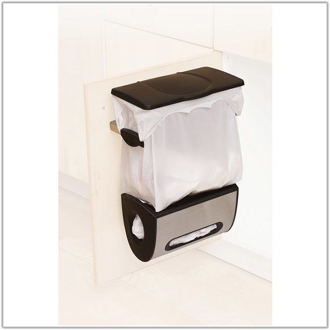 Cabinet Mount Grocery Bag Trash Can