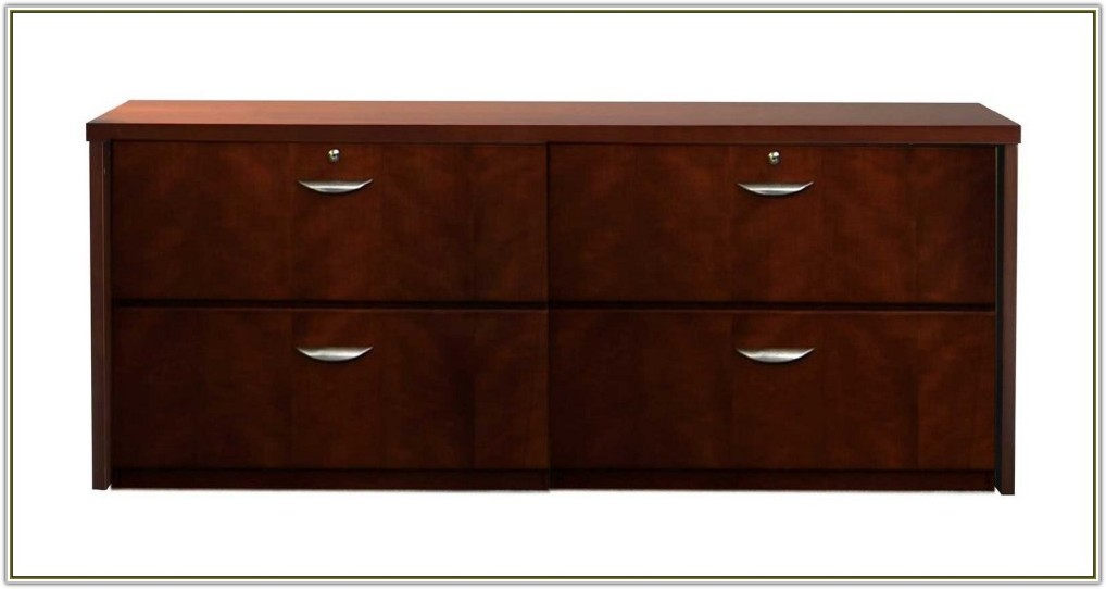 Cherry Wood 4 Drawer File Cabinet