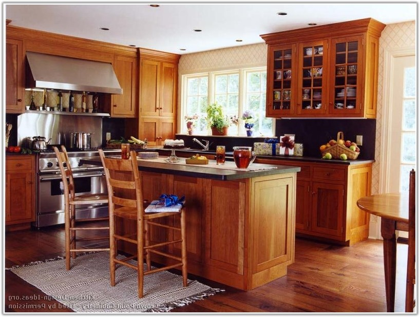 Cherry Wood Shaker Style Kitchen Cabinets