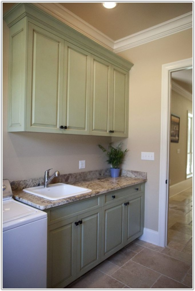 Custom Laundry Room Wall Cabinets