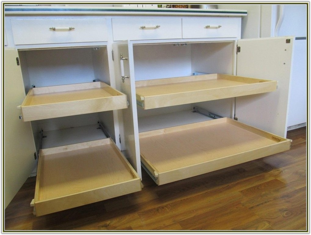 Diy Slide Out Drawers For Kitchen Cabinets