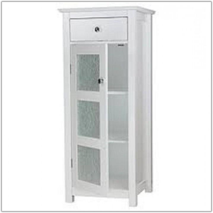 Elegant Home Fashions Neal Floor Cabinet White