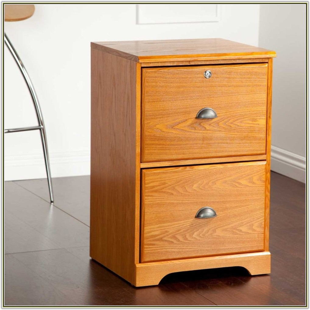 File Cabinet 2 Drawer Wood