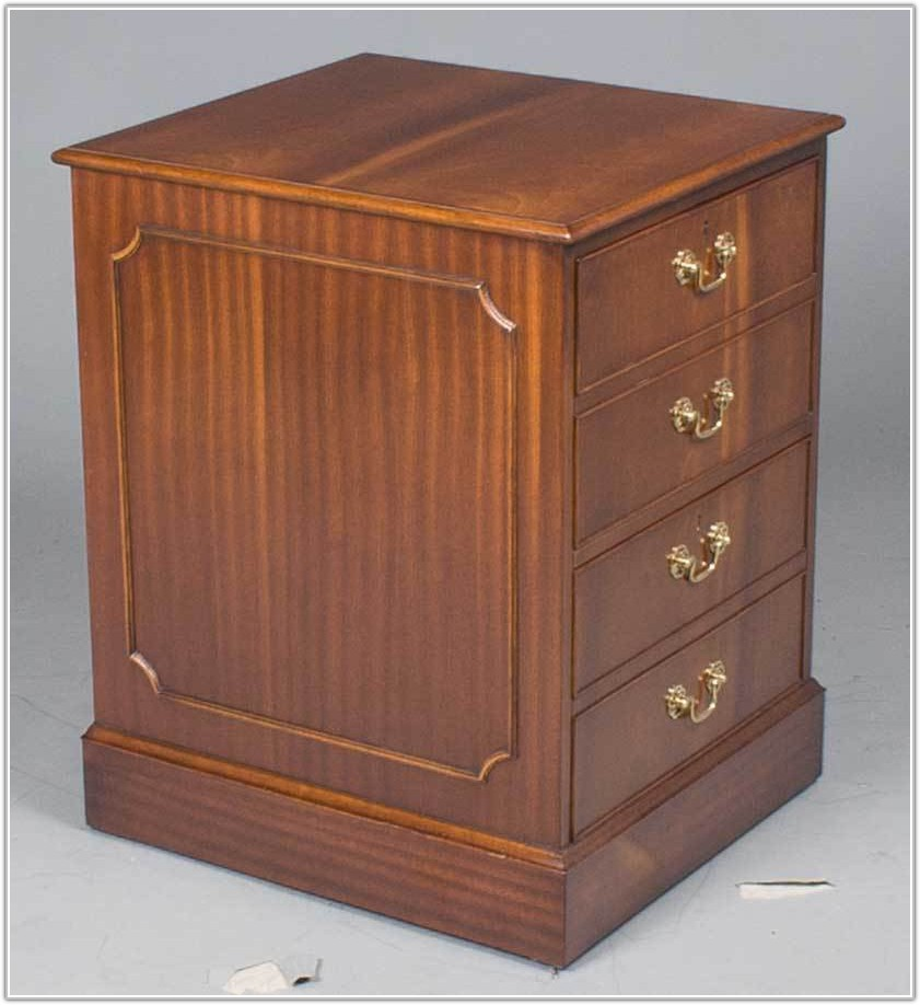 File Cabinet Two Drawer Wood