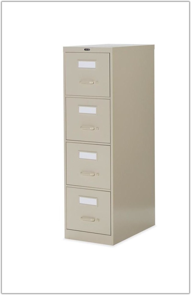 Four Drawer File Cabinet With Lock