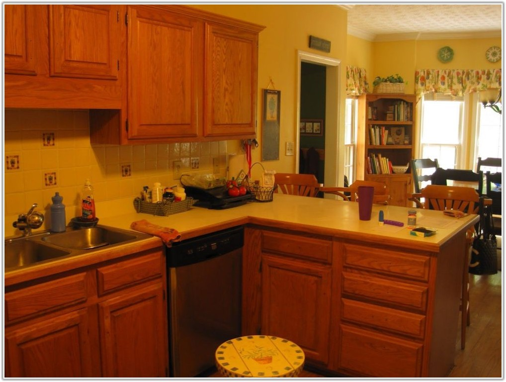 Golden Oak Kitchen Cabinets Paint Colors