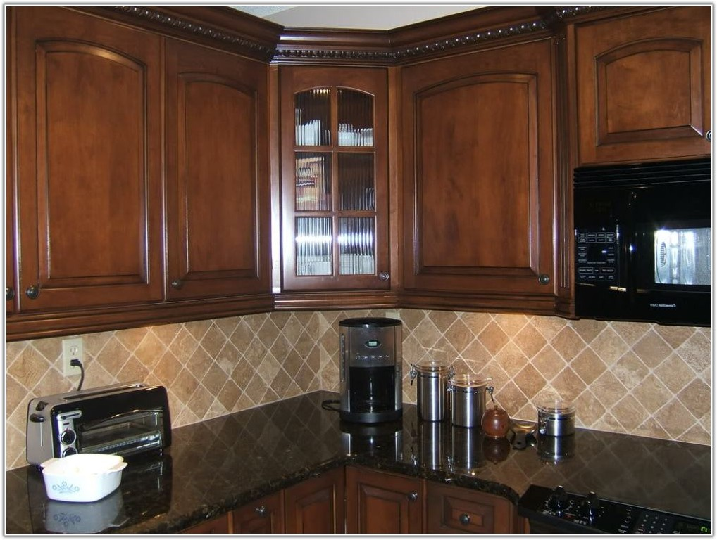 Granite Countertops And Cherry Cabinets