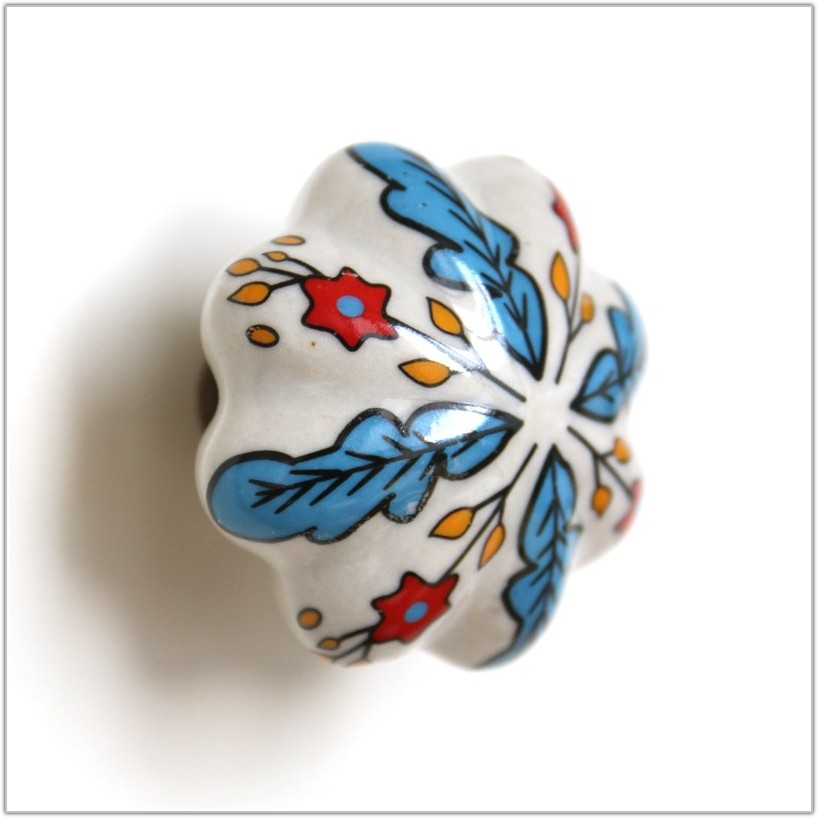 Hand Painted Ceramic Cabinet Knobs