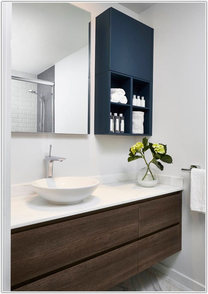 High Gloss Bathroom Wall Cabinets