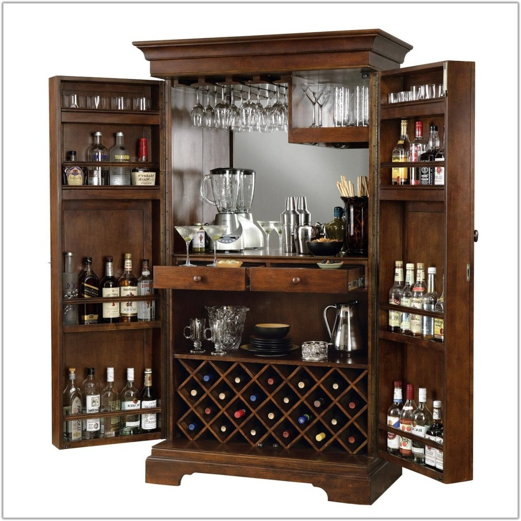 Home Bar Liquor Cabinet Furniture