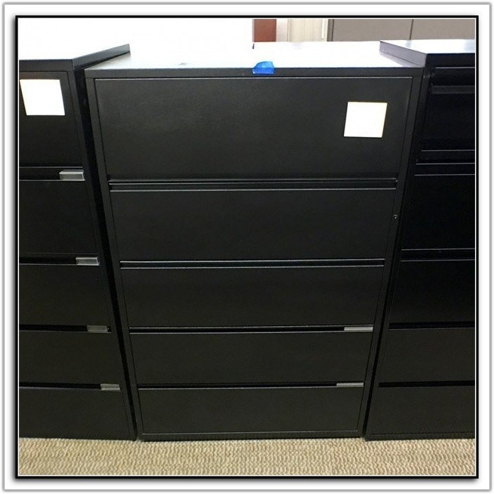 Hon Black Lateral File Cabinet