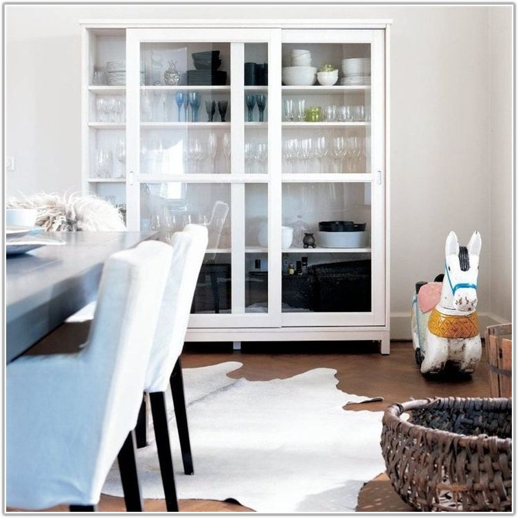 Ikea White Glass Front Cabinet