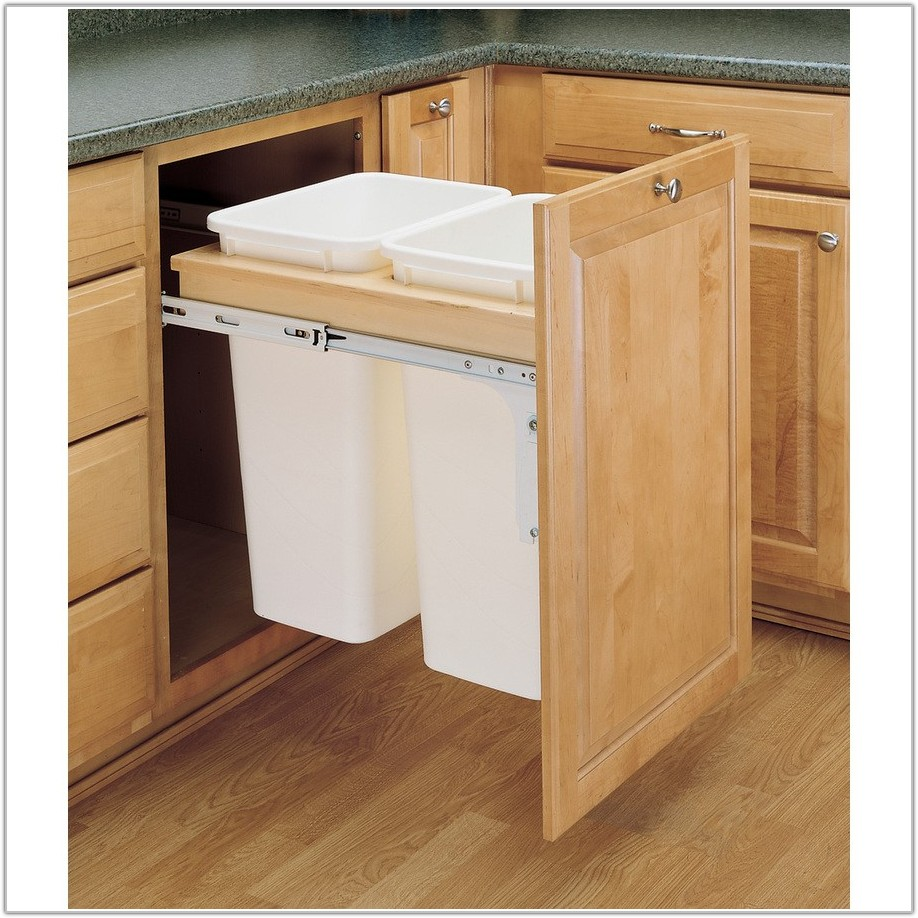 Kitchen Cabinet Trash Pull Out