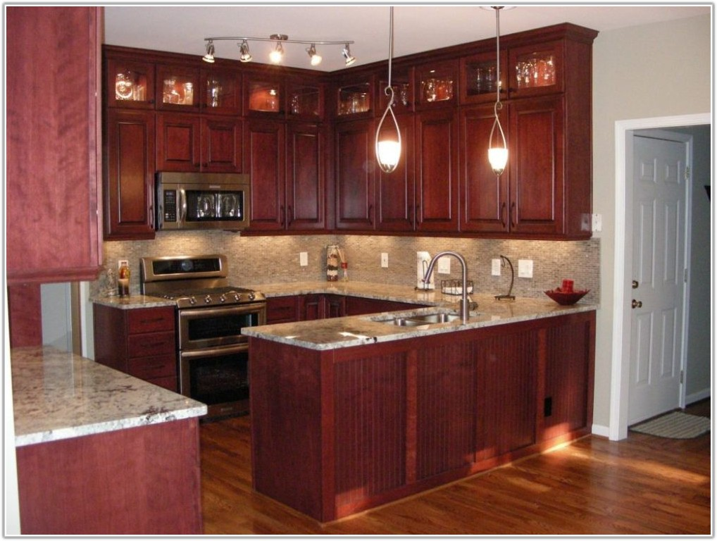 Kitchen Colors Cherry Wood Cabinets