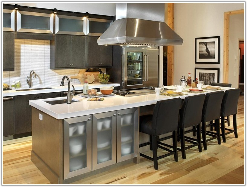Kitchen Island With Cabinets Above