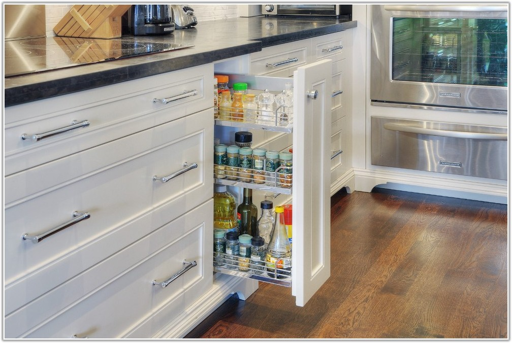 Kitchen Pull Out Spice Cabinet
