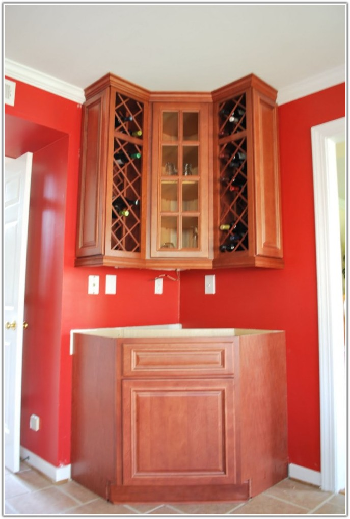 Kitchen Wall Cabinet Wine Rack