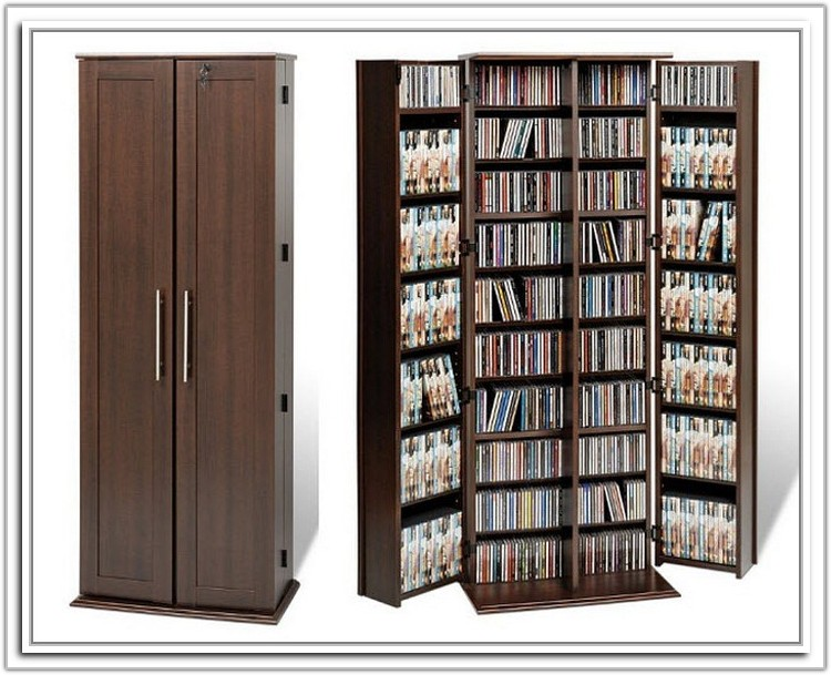 Large Dvd Storage Cabinet With Doors
