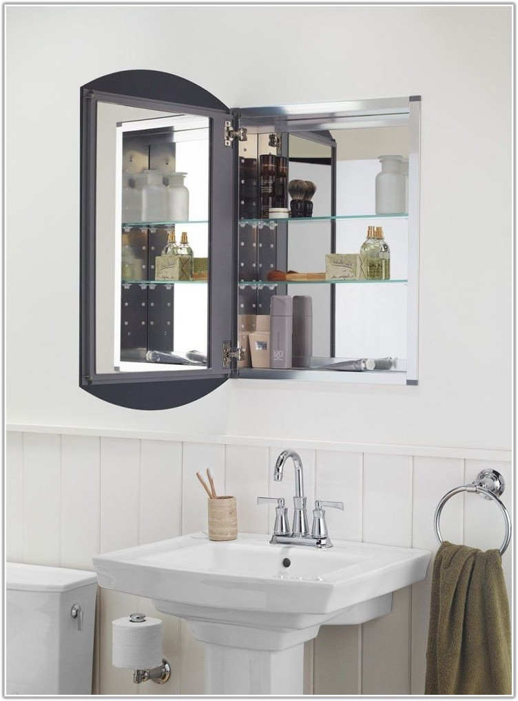 Large Mirror Medicine Cabinet Recessed